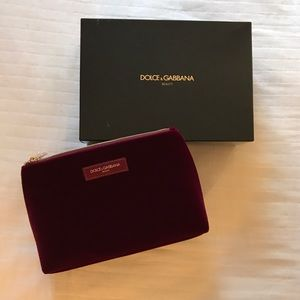 Dolce & Gabbana Large Red Velvet Beauty Case